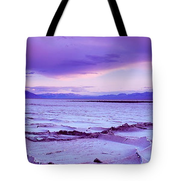 Salt Flat At Sunset, Death Valley Tote Bag