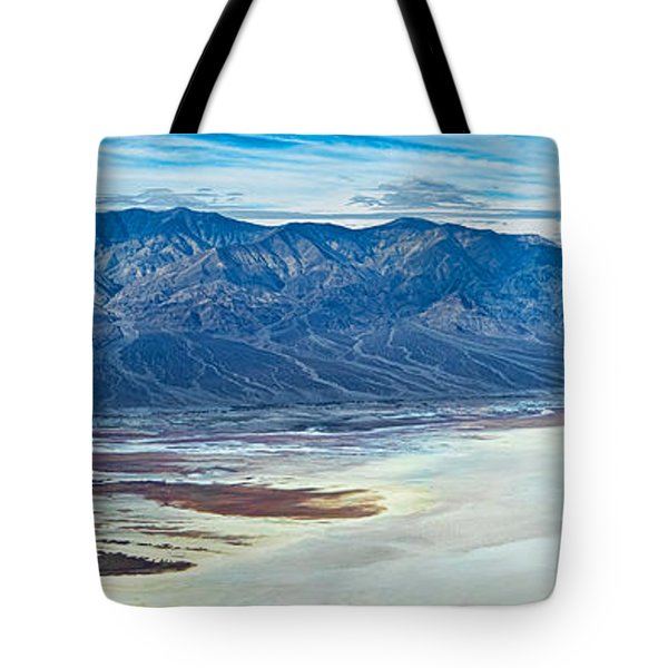 Salt Flats Viewed From Dantes View Tote Bag