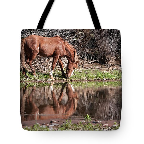 Salt River Wild Horse Tote Bag