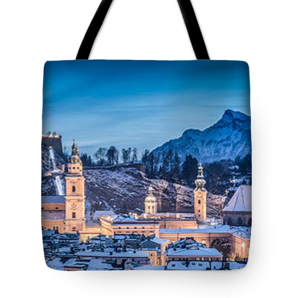 Salzburg Winter Romance Tote Bag