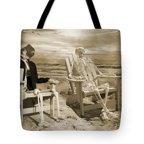 Sam Exchanges Tales With An Old Friend Tote Bag