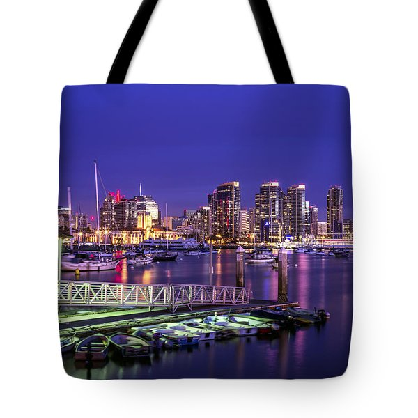 San Diego Harbor Tote Bag by Joseph S Giacalone