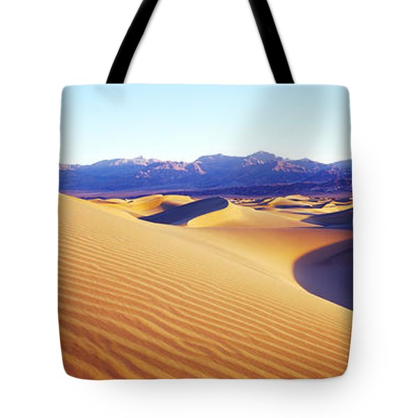 Sand Dunes At Sunrise, Stovepipe Wells Tote Bag