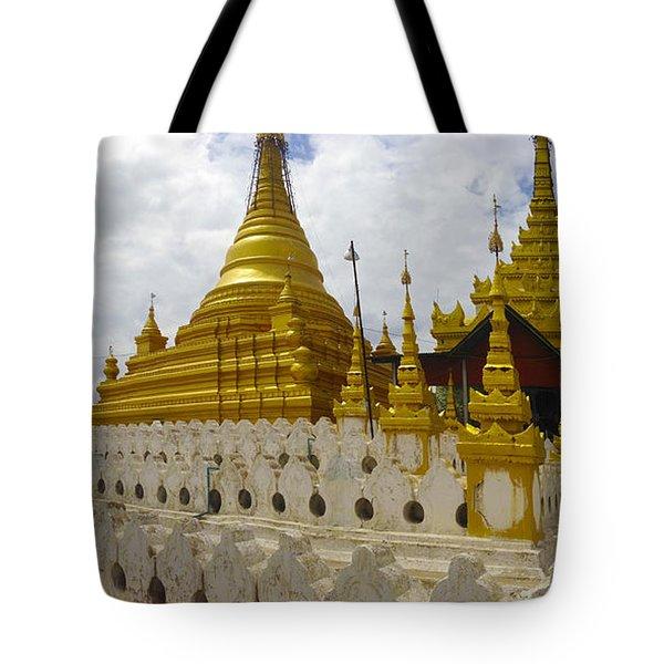 Tote Bag featuring the photograph Sandamuni Pagoda Mandalay Burma by Ralph A  Ledergerber-Photography