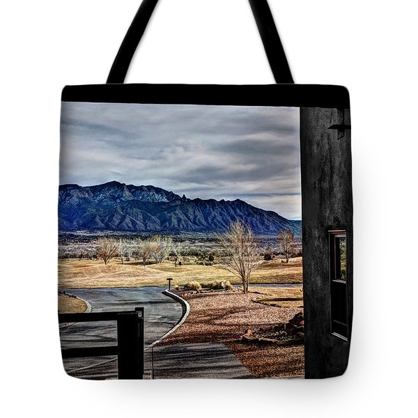 Sandia Mountains Tote Bag by Deborah Klubertanz