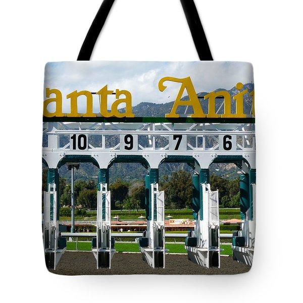 Santa Anita Starting Gate Tote Bag