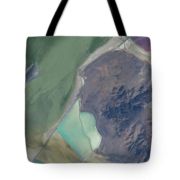Satellite View Of Salt Evaporation Tote Bag