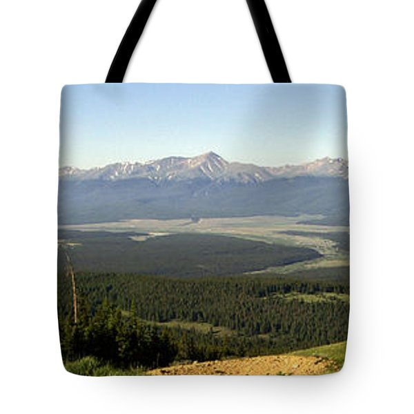 Sawatch Panoramic Tote Bag by Jeremy Rhoades