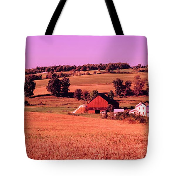 Scenic View Of A Farm, Amish Country Tote Bag