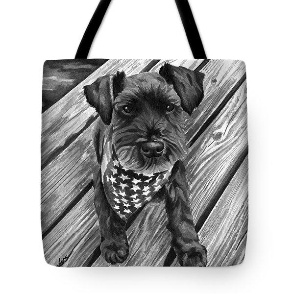 Ragnar Black Dog Tote Bag