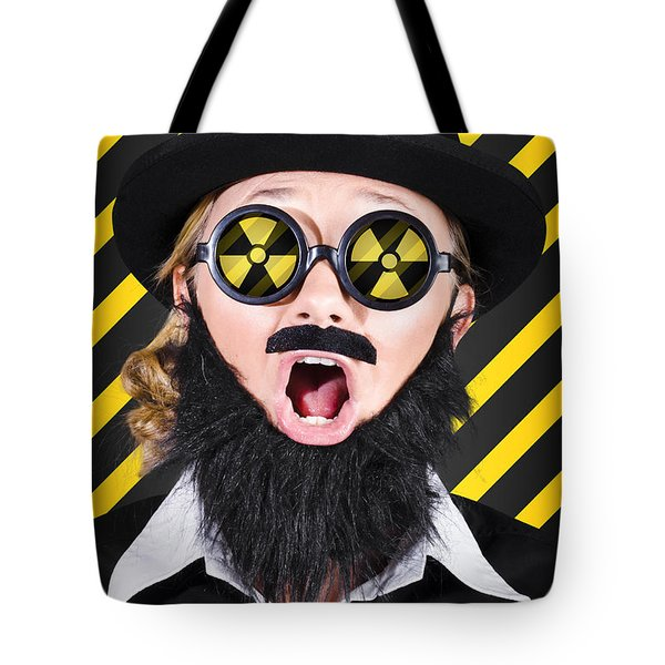 Science Research Geek With Atomic Discovery Tote Bag