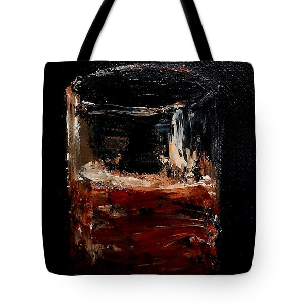 Tote Bag featuring the painting Scotch Neat by Fred Wilson