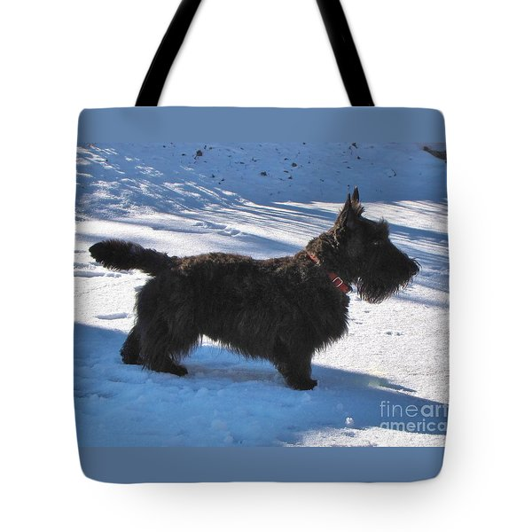 Tote Bag featuring the photograph Scottie Silhouette by Michele Penner