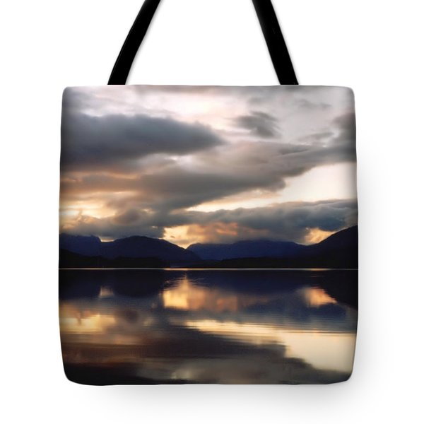 Tote Bag featuring the photograph Scottish Loch by Elizabeth Lock