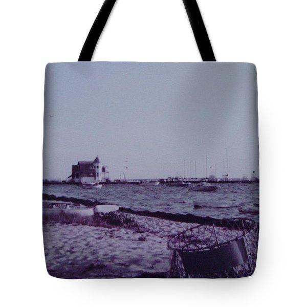 Seaside Park Nj Yacht Club Tote Bag by Joann Renner