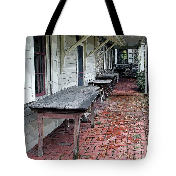 Secluded Portico Tote Bag