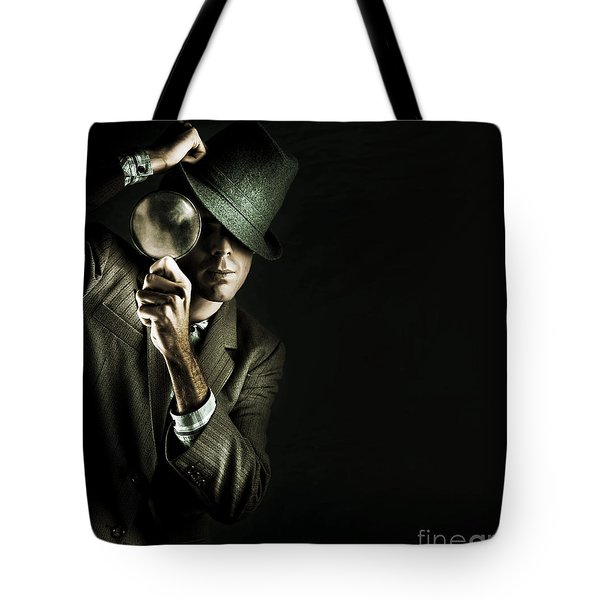 Security Detective With Magnifying Glass Tote Bag