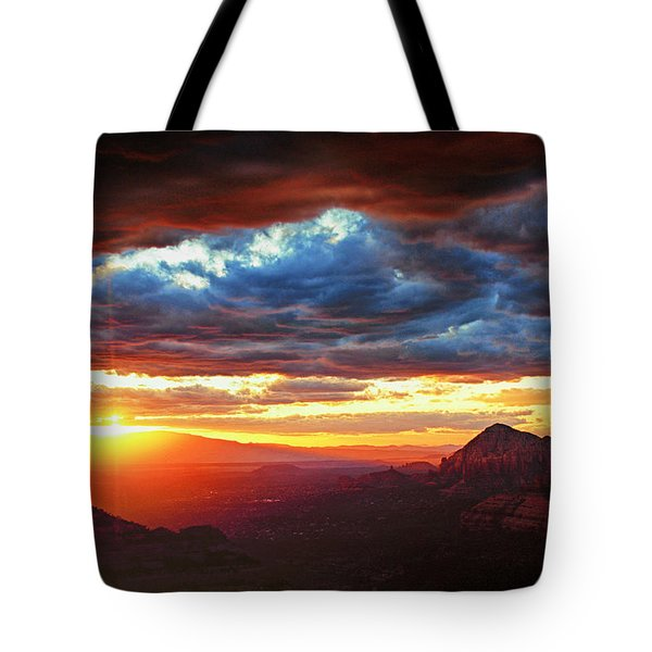 Sedona Sunset Tote Bag by Brian Kerls