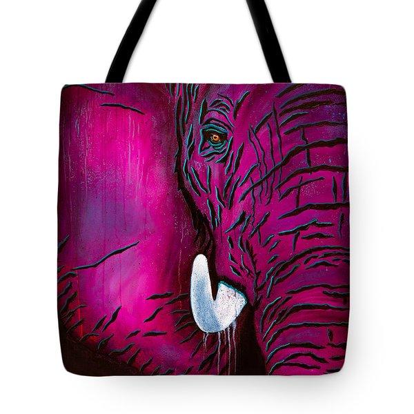 Seeing Pink Elephants Tote Bag