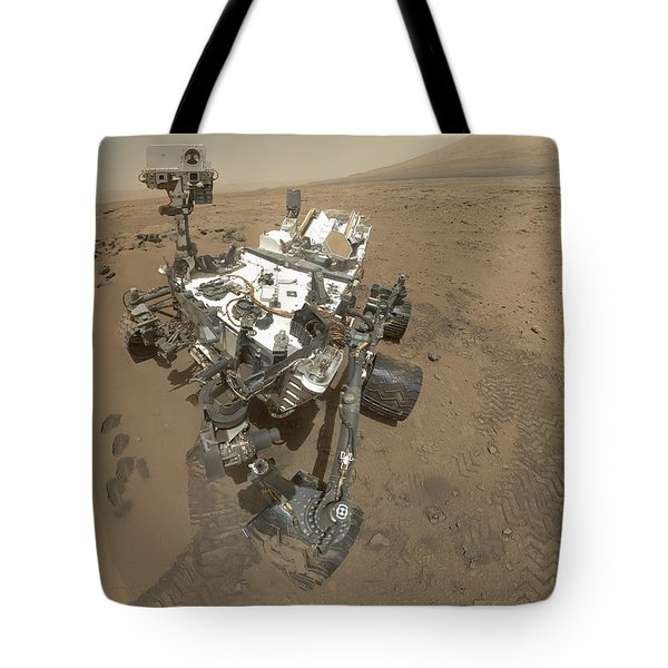 Self-portrait Of Curiosity Rover Tote Bag by Stocktrek Images