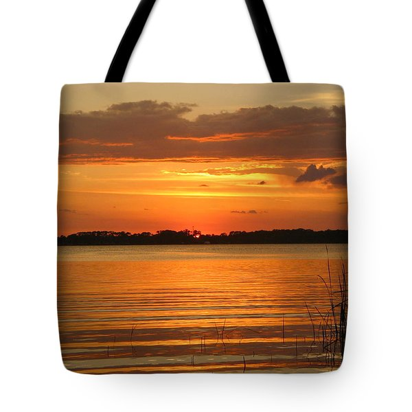 Setting Sun In Mount Dora Tote Bag