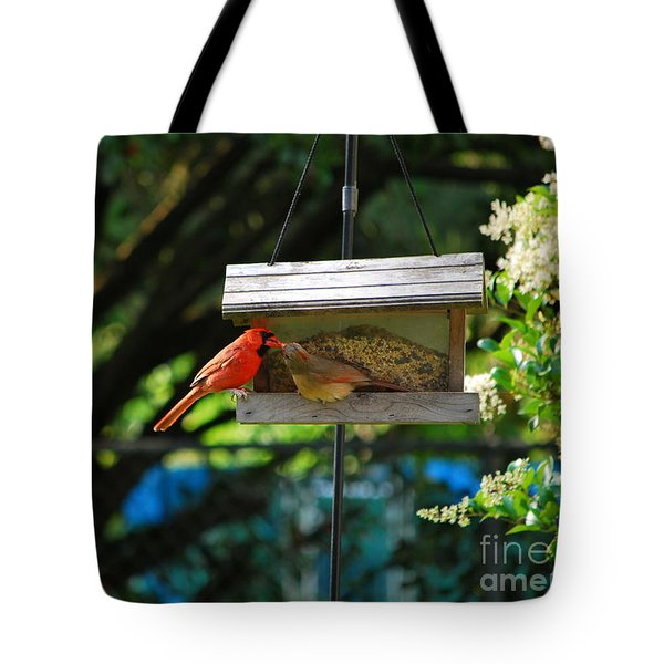 Tote Bag featuring the photograph Sharing by Bob Sample