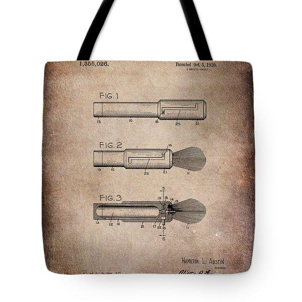 Shaving Brush Diagram 1920  Tote Bag