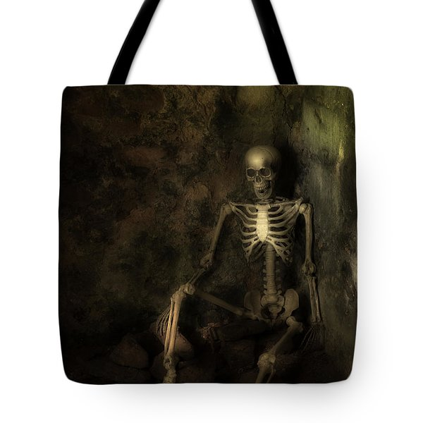 Skeleton Tote Bag by Amanda Elwell