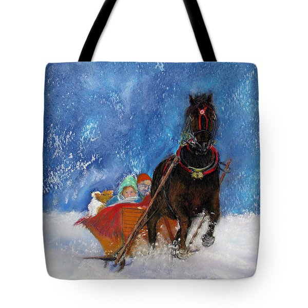 Sleigh Ride Tote Bag