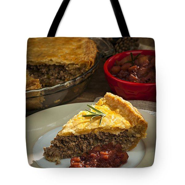 Slice Of Tourtiere Meat Pie  Tote Bag