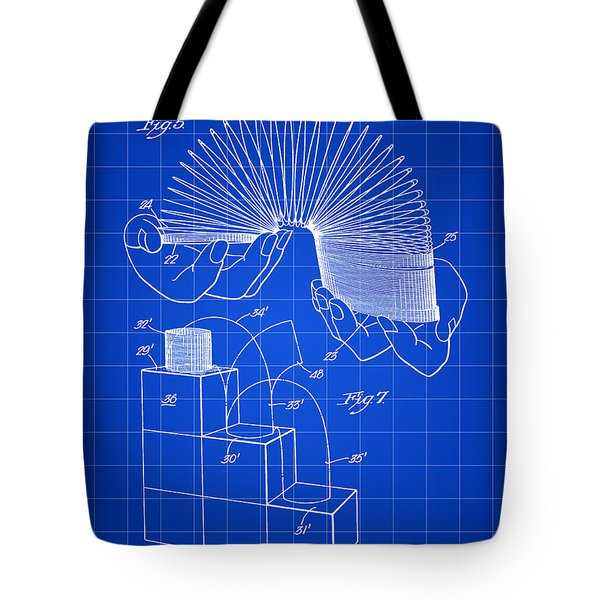 Slinky Patent 1946 - Blue Tote Bag