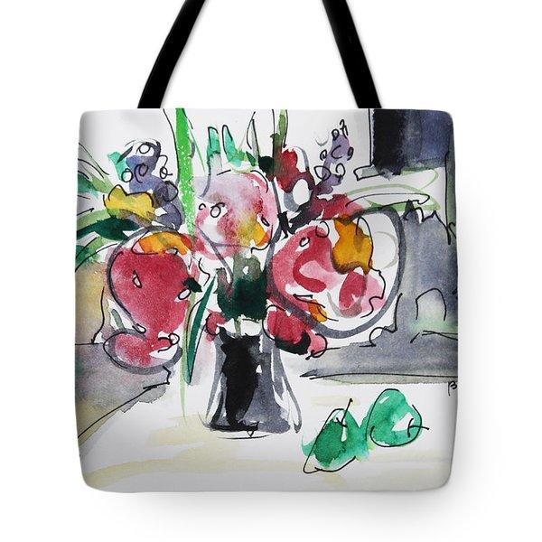 Smile Tote Bag by Becky Kim