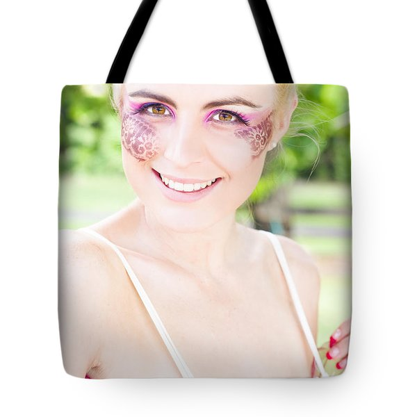 Smiling Ballerina Tote Bag