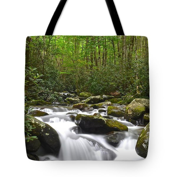 Smoky Mountain National Park Tote Bag by Frozen in Time Fine Art Photography