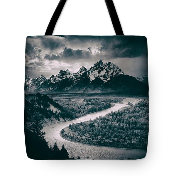Snake River In The Tetons - 1930s Tote Bag