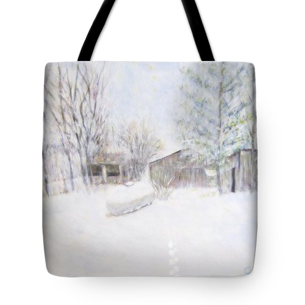 Snowy February Day Tote Bag