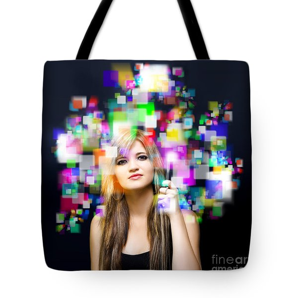 Social Media And Networking Tote Bag