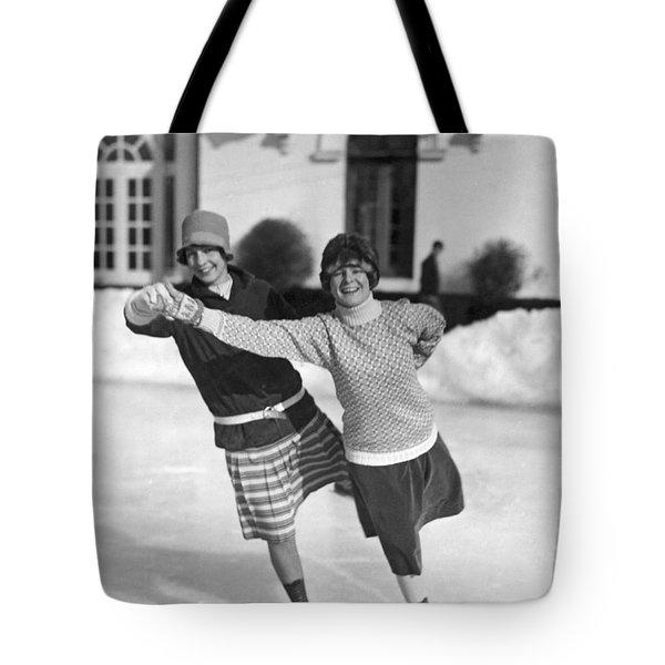 Society Ice Skating In Tuxedo, Ny Tote Bag