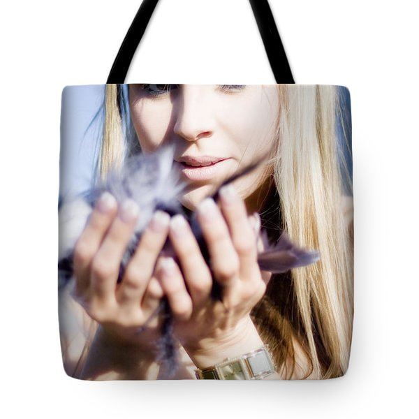 Soft As A Feather Tote Bag