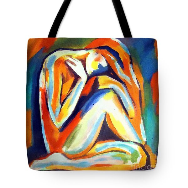 Tote Bag featuring the painting Solitude by Helena Wierzbicki