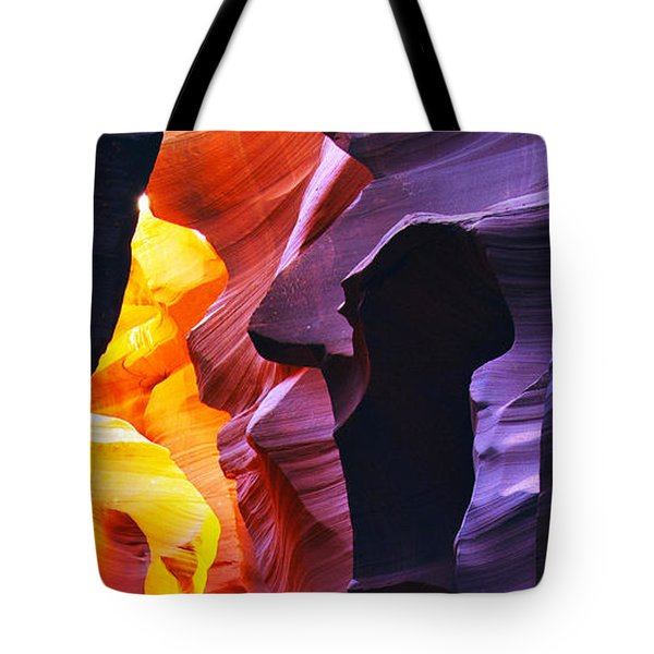 Tote Bag featuring the photograph Somewhere In America Series - Antelope Canyon by Lilia D