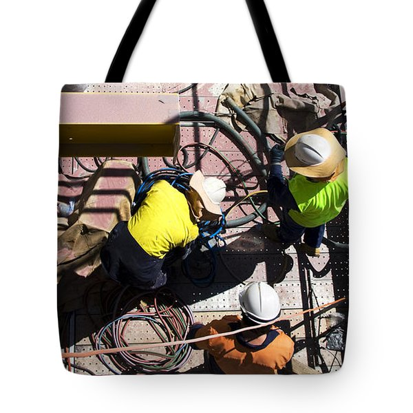 Sorting Electrical Cords Tote Bag