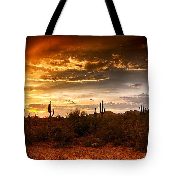 Southwestern Skies  Tote Bag by Saija  Lehtonen