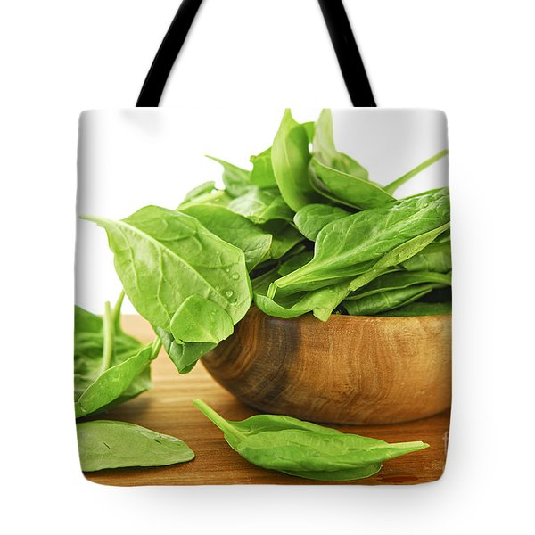 Spinach Tote Bag by Elena Elisseeva