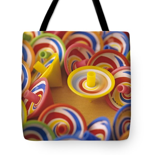 Spinning Tops Tote Bag by Jim Corwin