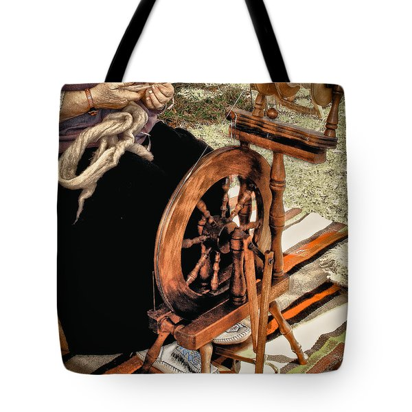 Spinning Wool Tote Bag