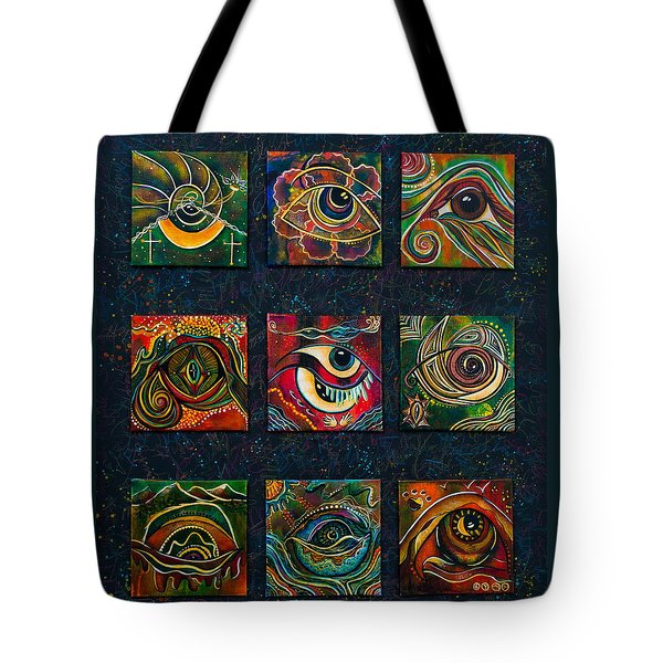 Tote Bag featuring the painting Spirit Eye Collection II by Deborha Kerr