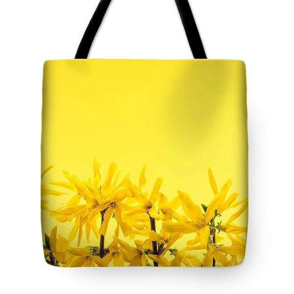 Spring Yellow Forsythia  Tote Bag by Elena Elisseeva