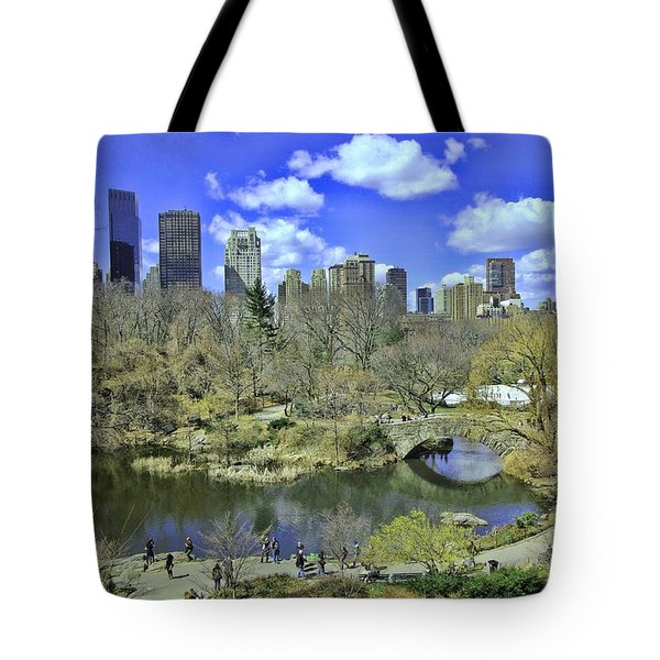 Springtime In Central Park Tote Bag by Allen Beatty