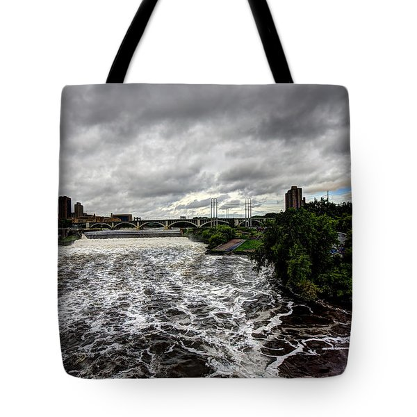 St Anthony Falls Tote Bag